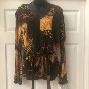 ALBERTO MAKALI DESIGNER TOP ONE OF A KIND SZ XL